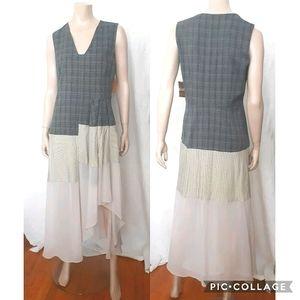 RACHEL ROY | Sleeveless Plaid and Striped Dress